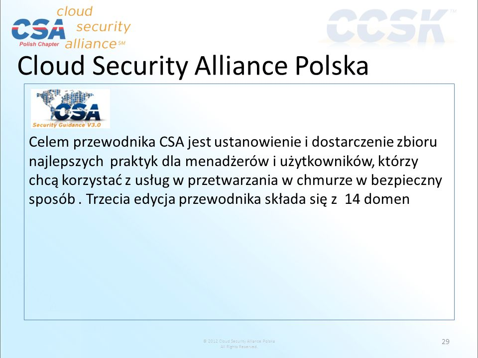 Cloud Security Alliance Polska