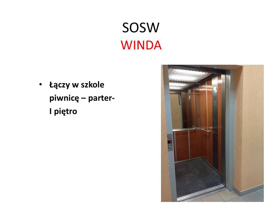 SOSW WINDA Łączy w szkole piwnicę – parter- I piętro