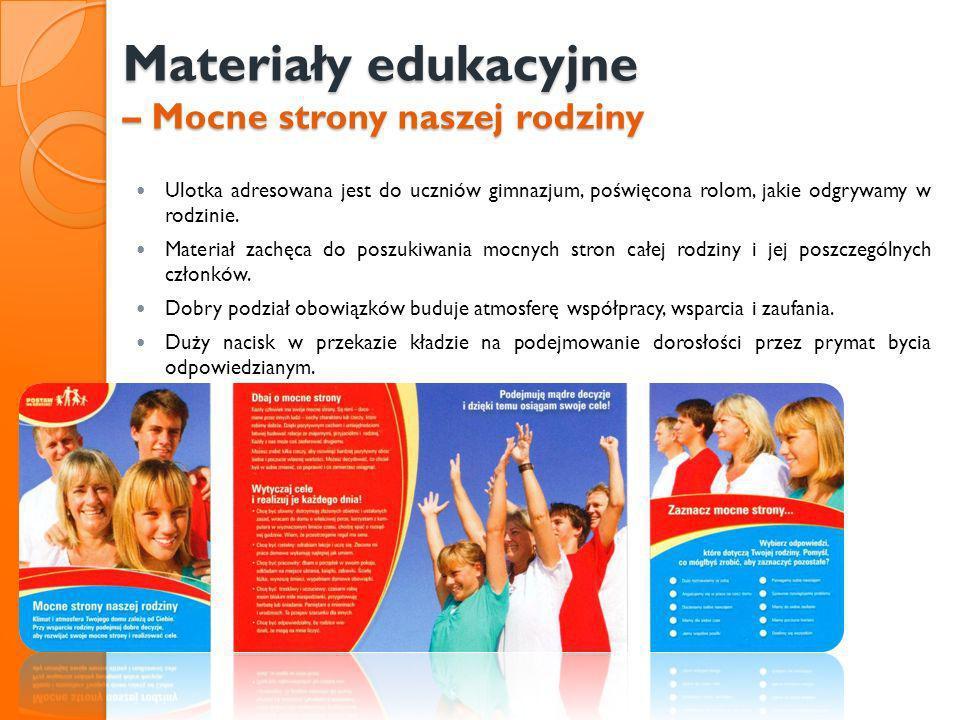 Materiały edukacyjne – Mocne strony naszej rodziny