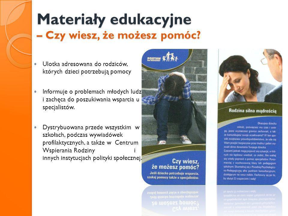Materiały edukacyjne – Czy wiesz, że możesz pomóc