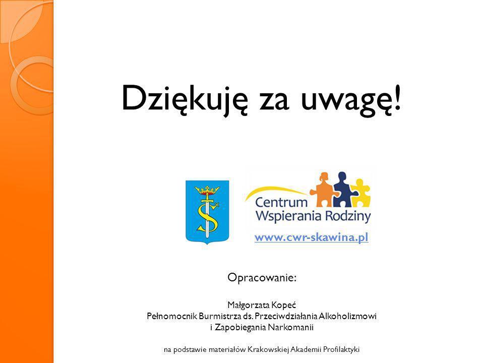 Dziękuję za uwagę! www.cwr-skawina.pl Opracowanie: Małgorzata Kopeć
