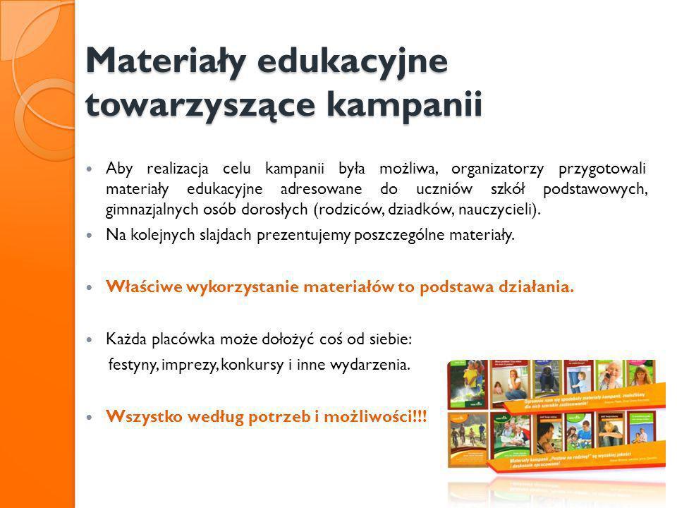 Materiały edukacyjne towarzyszące kampanii