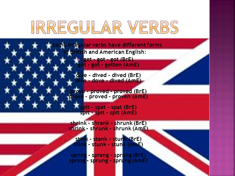 in British and American English: