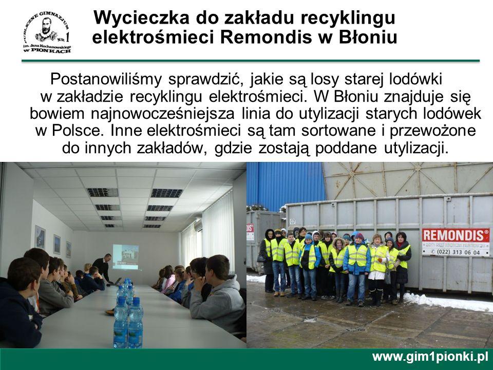 Wycieczka do zakładu recyklingu elektrośmieci Remondis w Błoniu