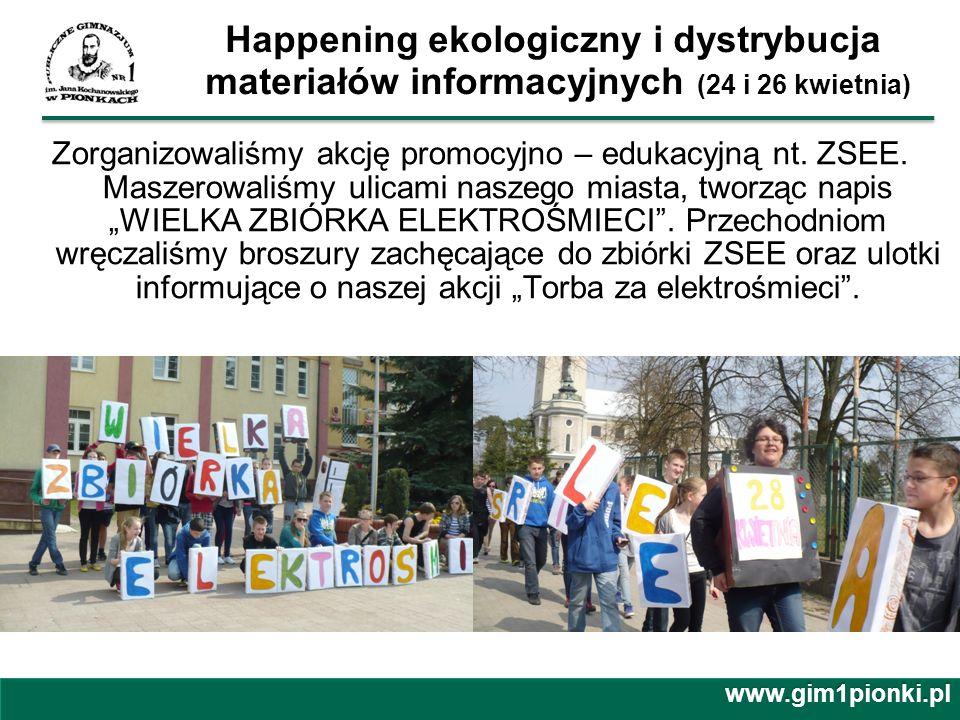 Happening ekologiczny i dystrybucja materiałów informacyjnych (24 i 26 kwietnia)