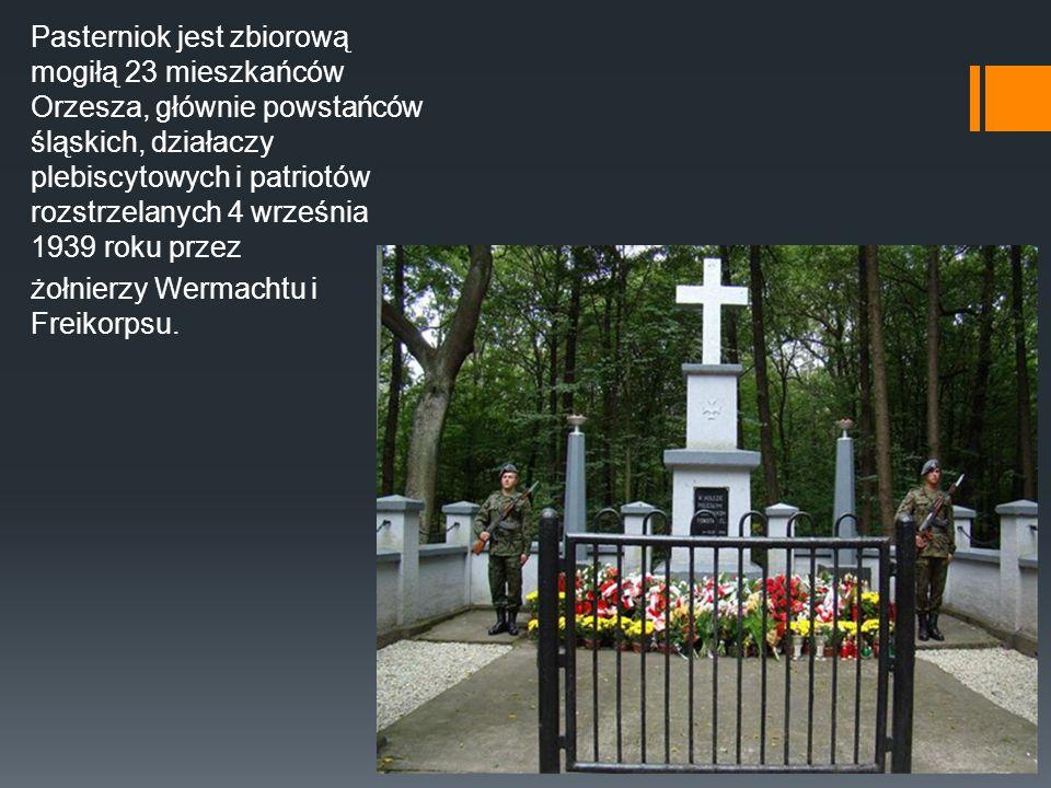 Pasterniok jest zbiorową mogiłą 23 mieszkańców Orzesza, głównie powstańców śląskich, działaczy plebiscytowych i patriotów rozstrzelanych 4 września 1939 roku przez