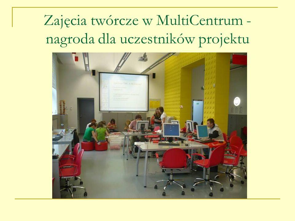 Zajęcia twórcze w MultiCentrum - nagroda dla uczestników projektu