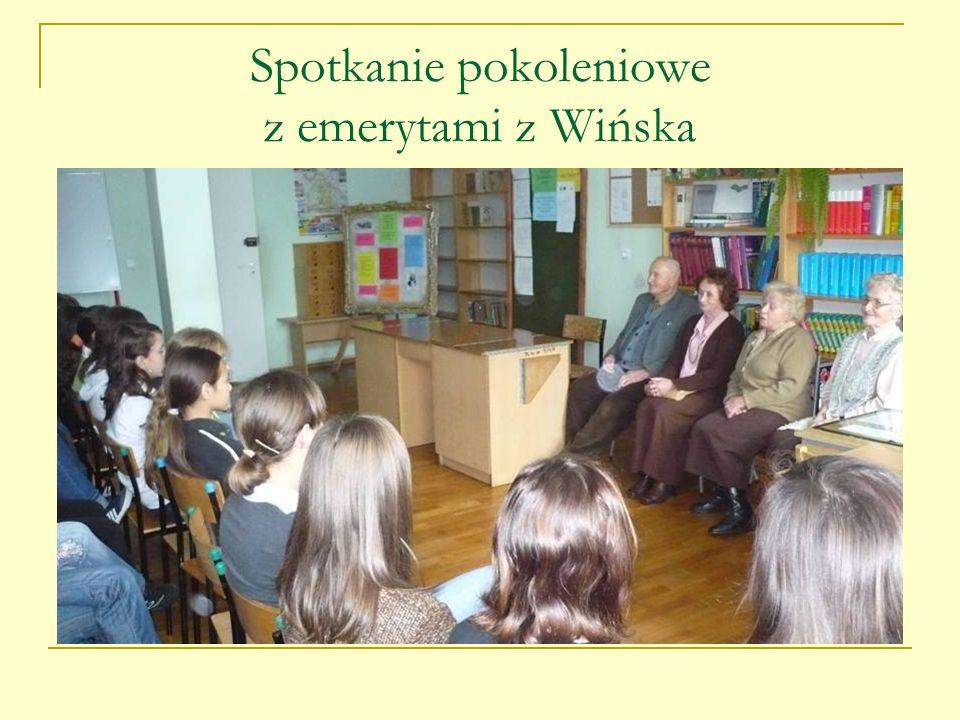 Spotkanie pokoleniowe z emerytami z Wińska