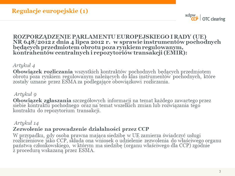 Regulacje europejskie (1)