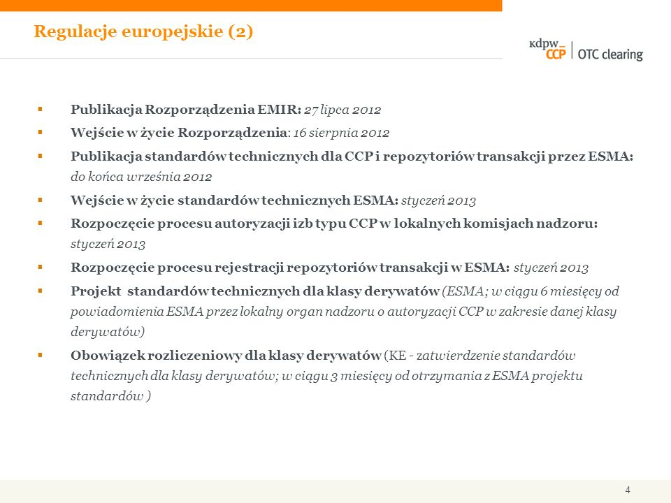 Regulacje europejskie (2)
