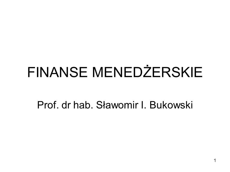 Prof. dr hab. Sławomir I. Bukowski