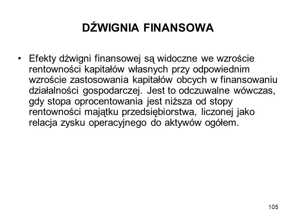 DŹWIGNIA FINANSOWA
