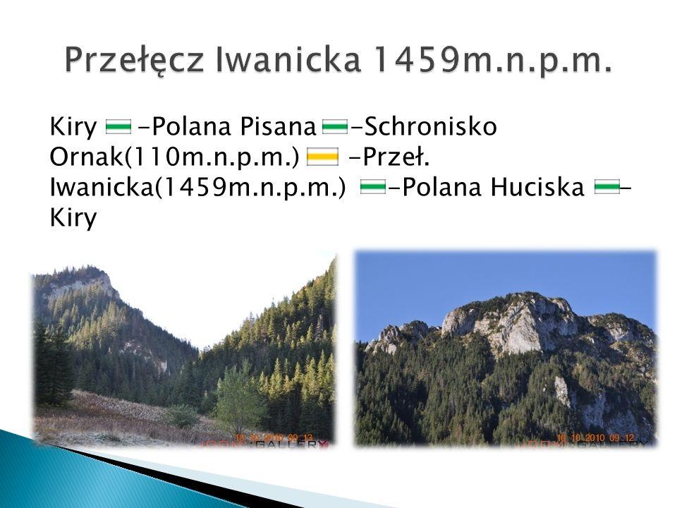 Przełęcz Iwanicka 1459m.n.p.m.