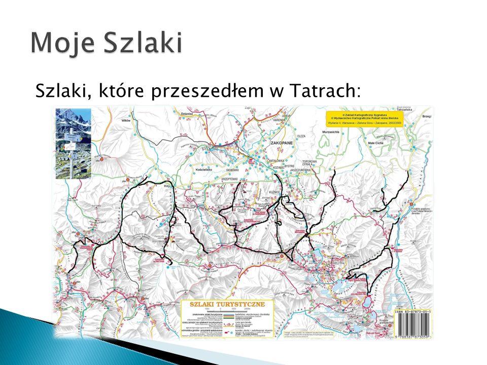 Moje Szlaki Szlaki, które przeszedłem w Tatrach: