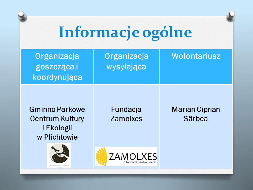 Informacje ogólne Organizacja goszcząca i koordynująca