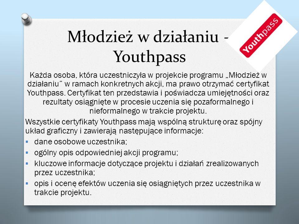 Młodzież w działaniu – Youthpass