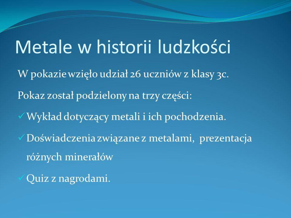 Metale w historii ludzkości