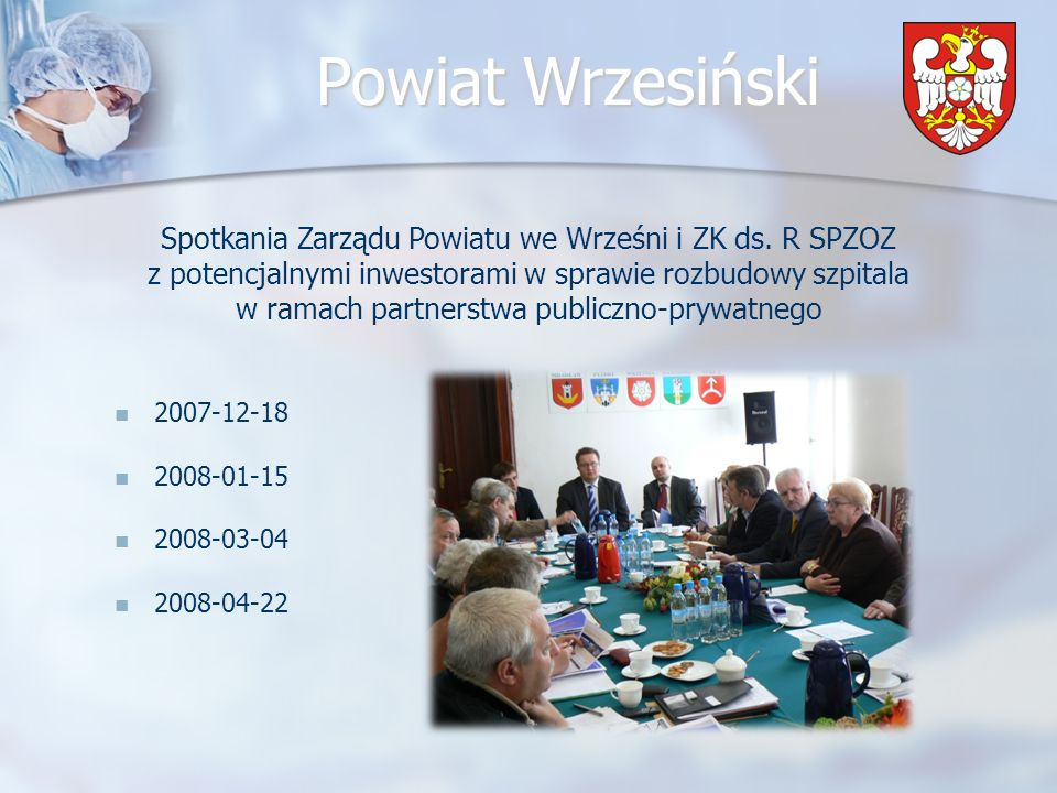 Spotkania Zarządu Powiatu we Wrześni i ZK ds. R SPZOZ