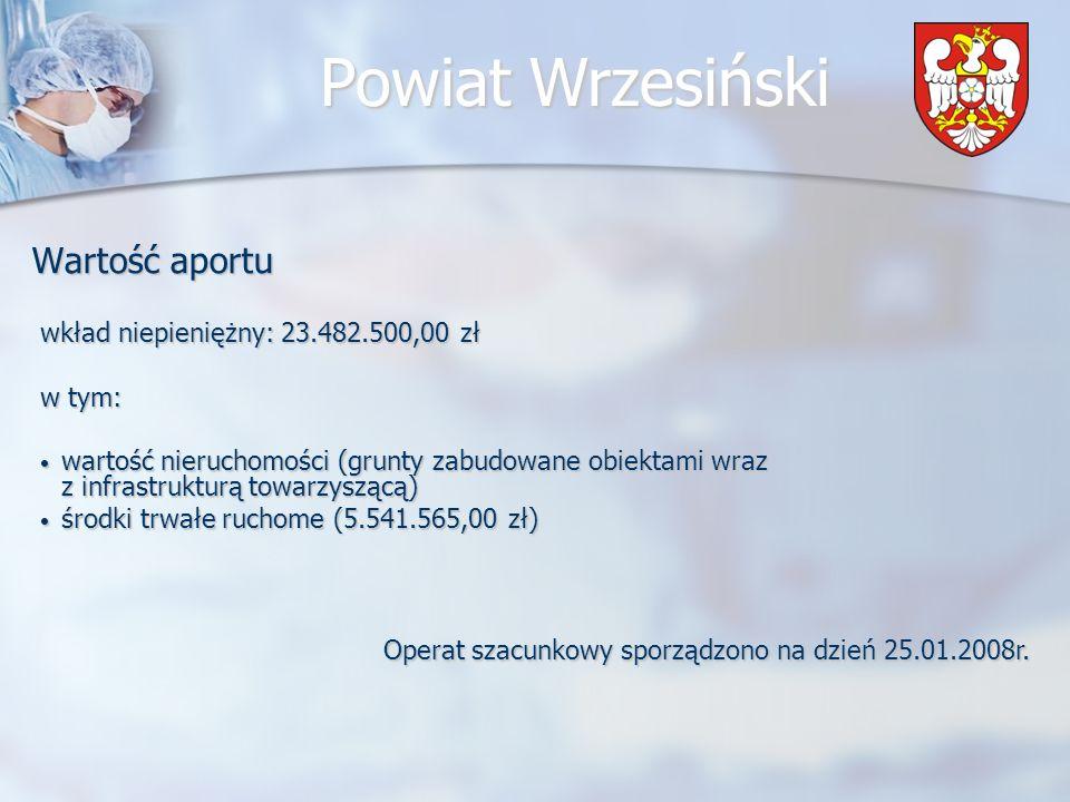 Wartość aportu wkład niepieniężny: 23.482.500,00 zł w tym: