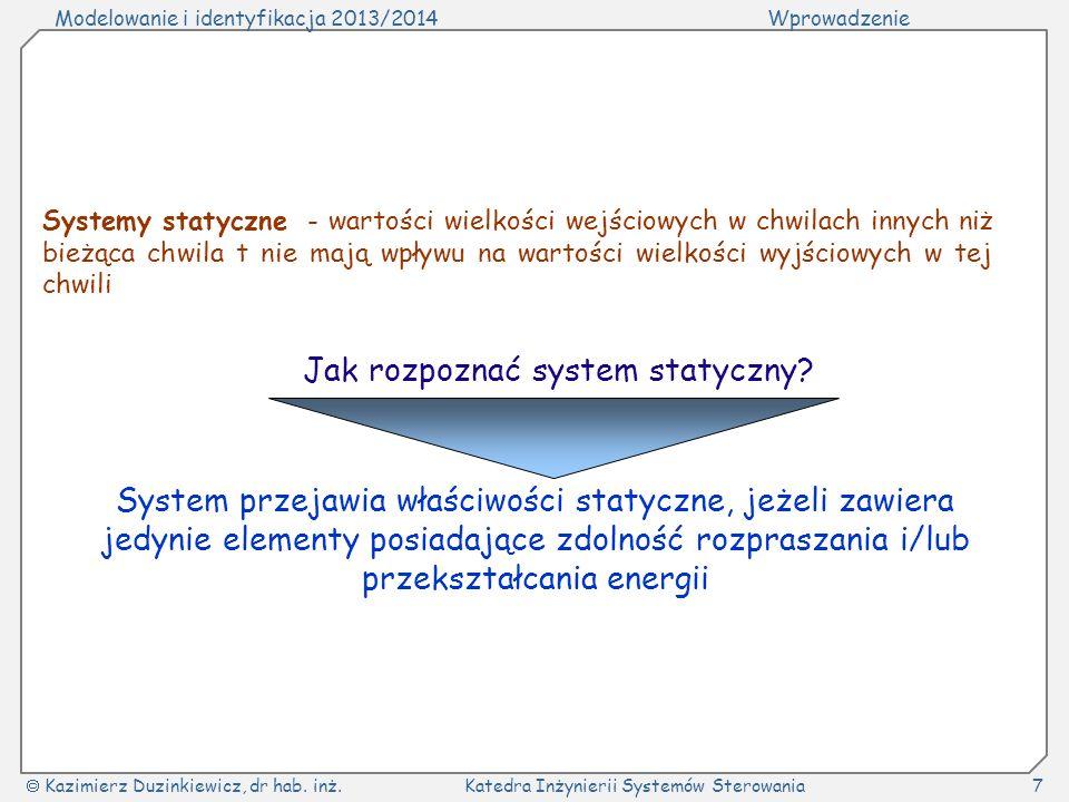 Jak rozpoznać system statyczny