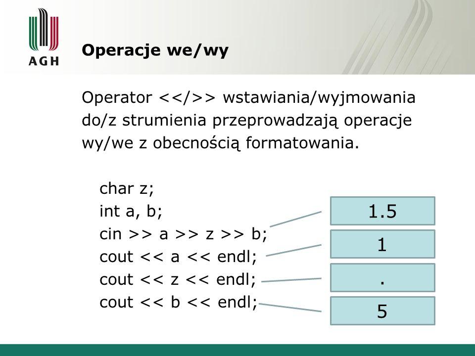 Operacje we/wy