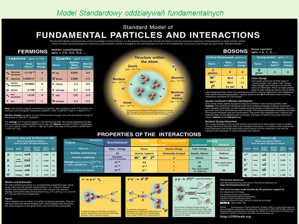 Model Standardowy oddziaływań fundamentalnych