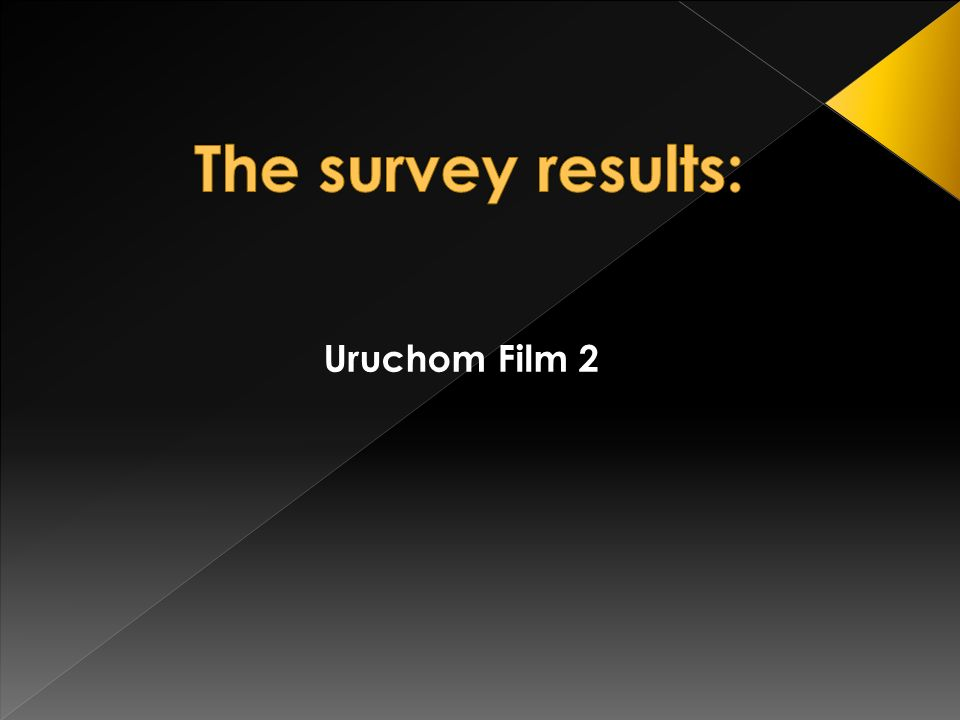 The survey results: Uruchom Film 2