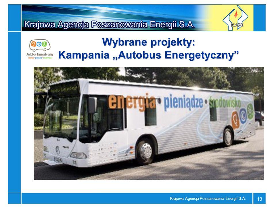 """Wybrane projekty: Kampania """"Autobus Energetyczny"""
