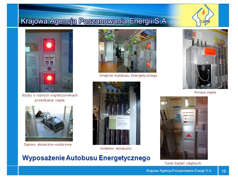 Wyposażenie Autobusu Energetycznego