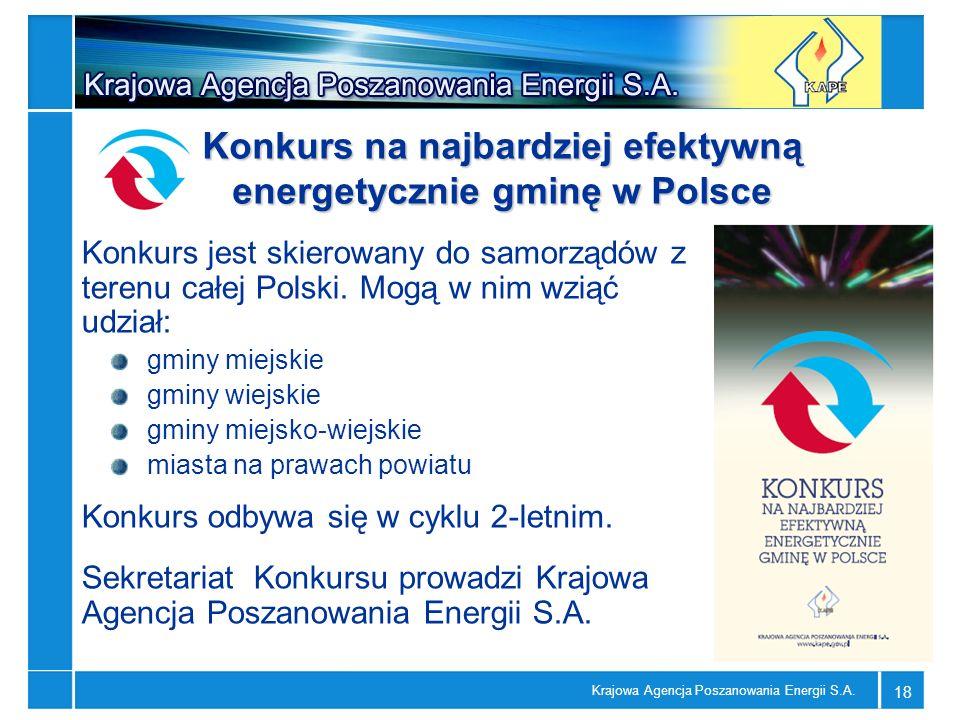 Konkurs na najbardziej efektywną energetycznie gminę w Polsce