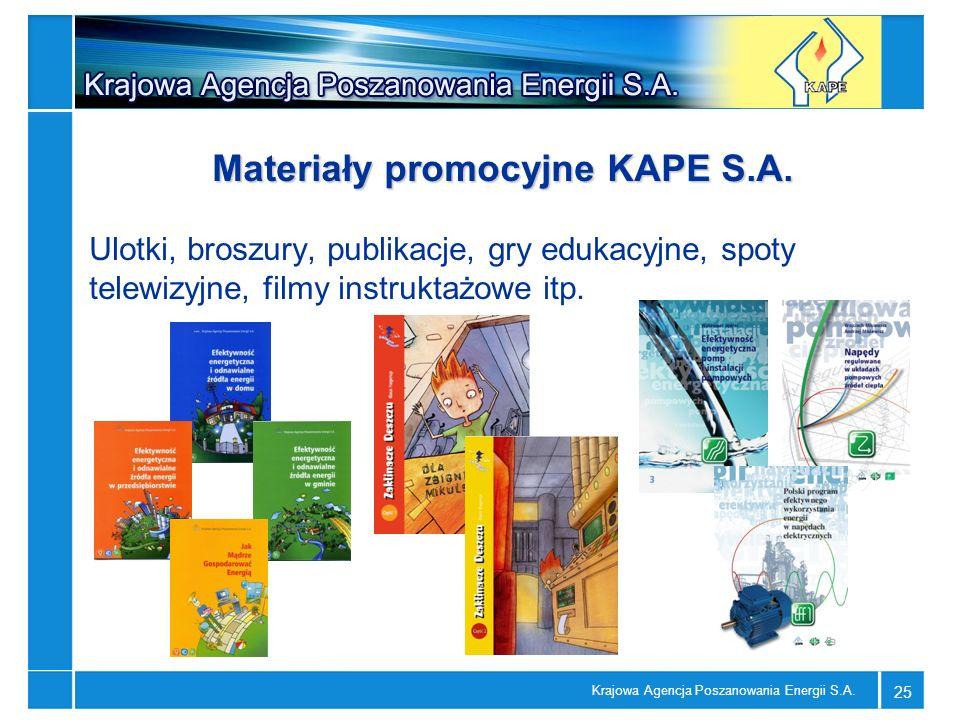 Materiały promocyjne KAPE S.A.