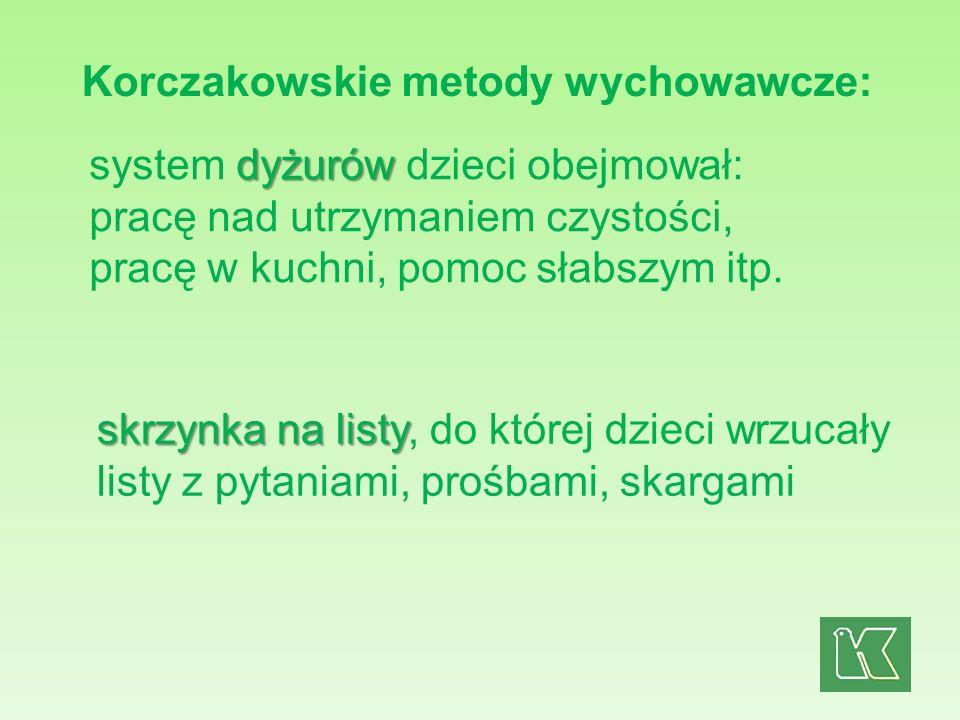 Korczakowskie metody wychowawcze: