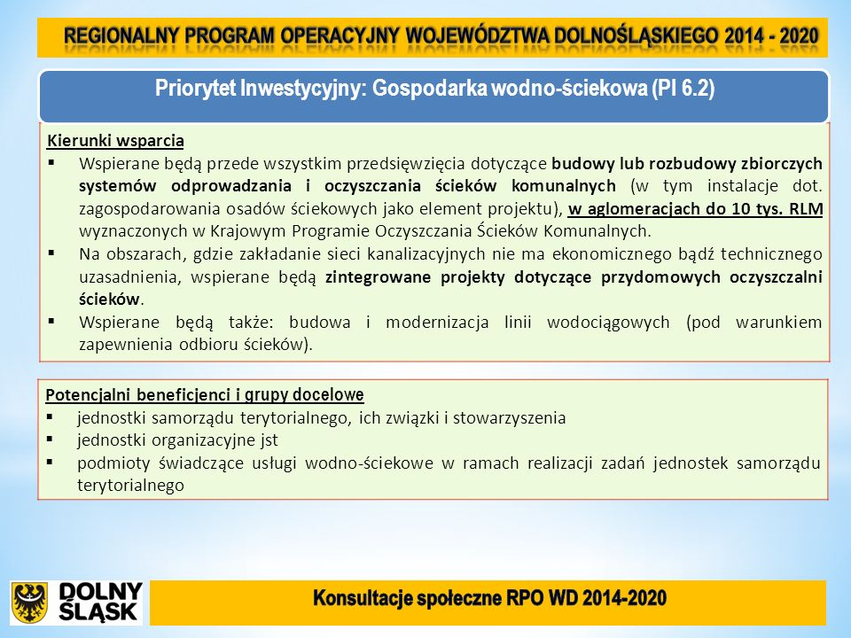 Regionalny Program Operacyjny Województwa Dolnośląskiego 2014 - 2020