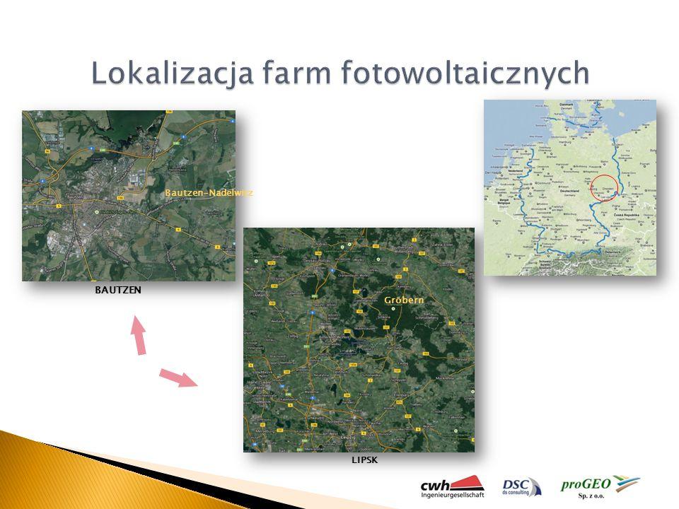 Lokalizacja farm fotowoltaicznych