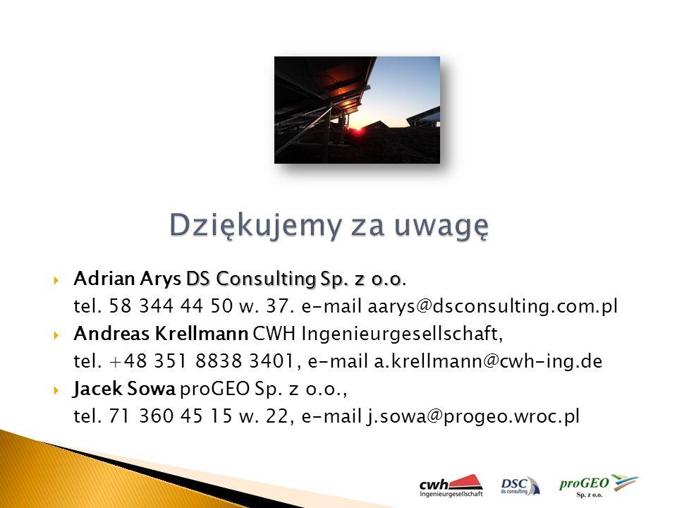 Dziękujemy za uwagę Adrian Arys DS Consulting Sp. z o.o.