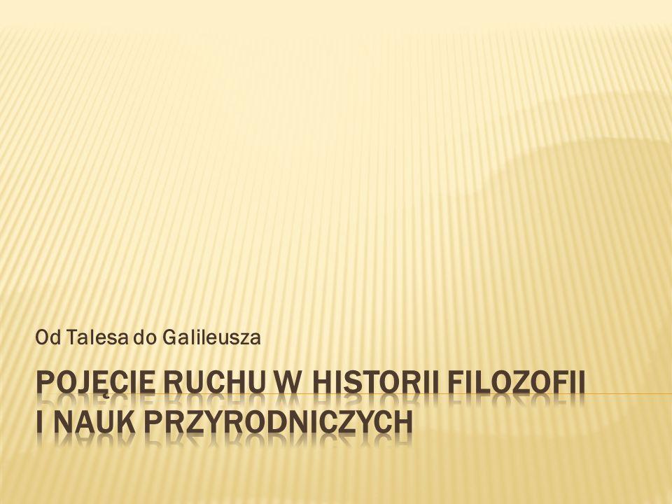 Pojęcie ruchu w historii filozofii i nauk przyrodniczych