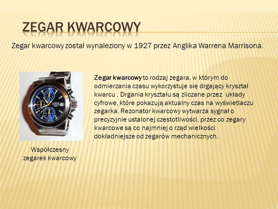 Współczesny zegarek kwarcowy