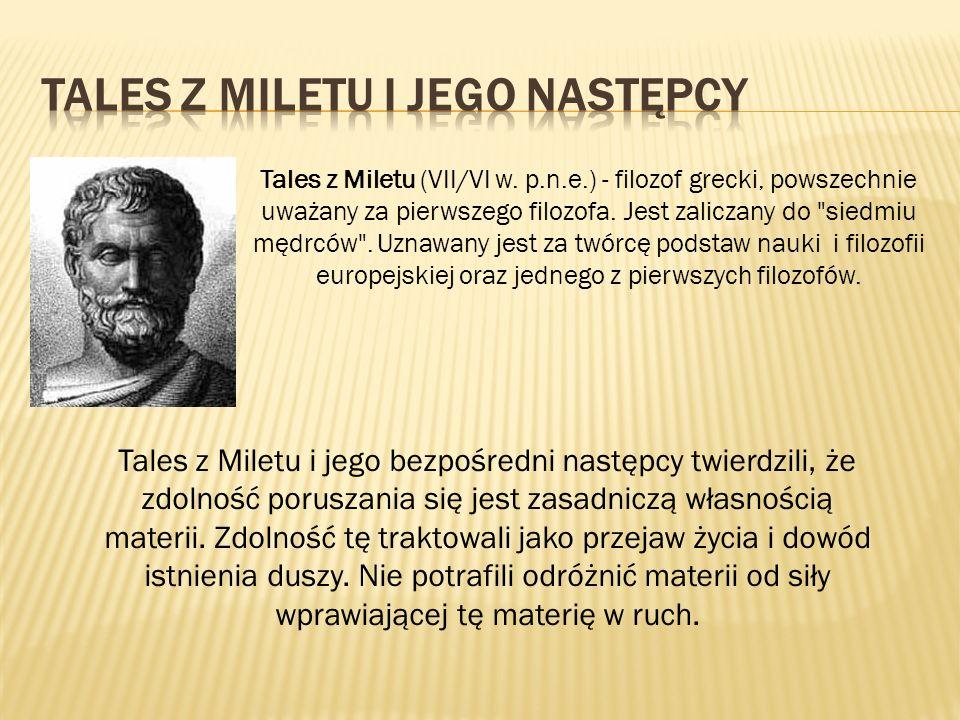 Tales z Miletu i jego następcy