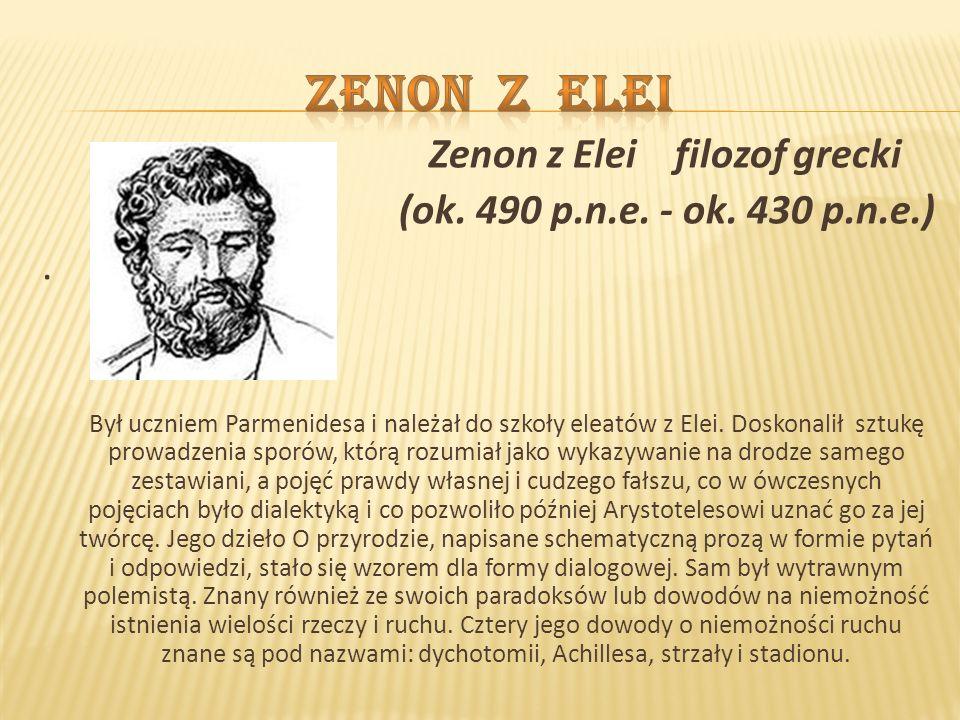 Zenon z Elei Zenon z Elei filozof grecki
