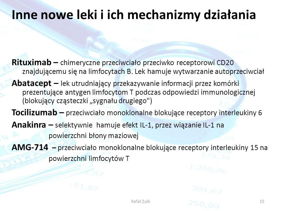 Inne nowe leki i ich mechanizmy działania