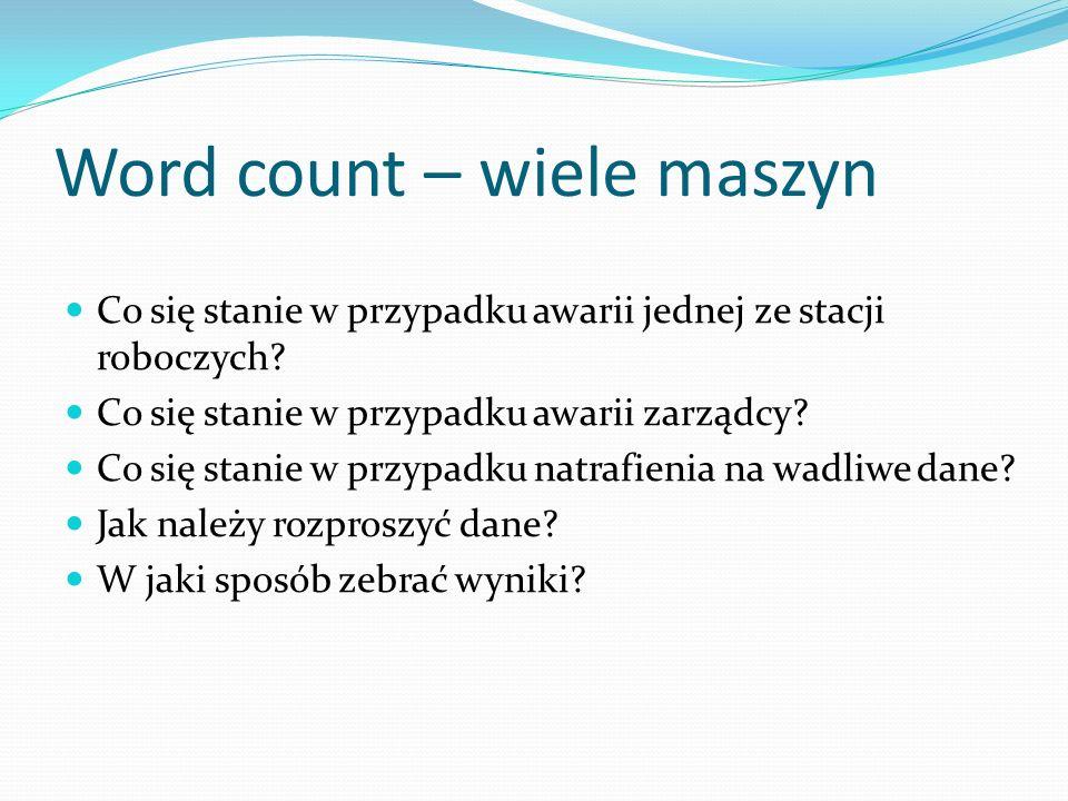 Word count – wiele maszyn