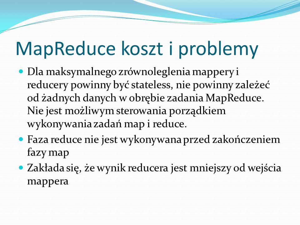 MapReduce koszt i problemy