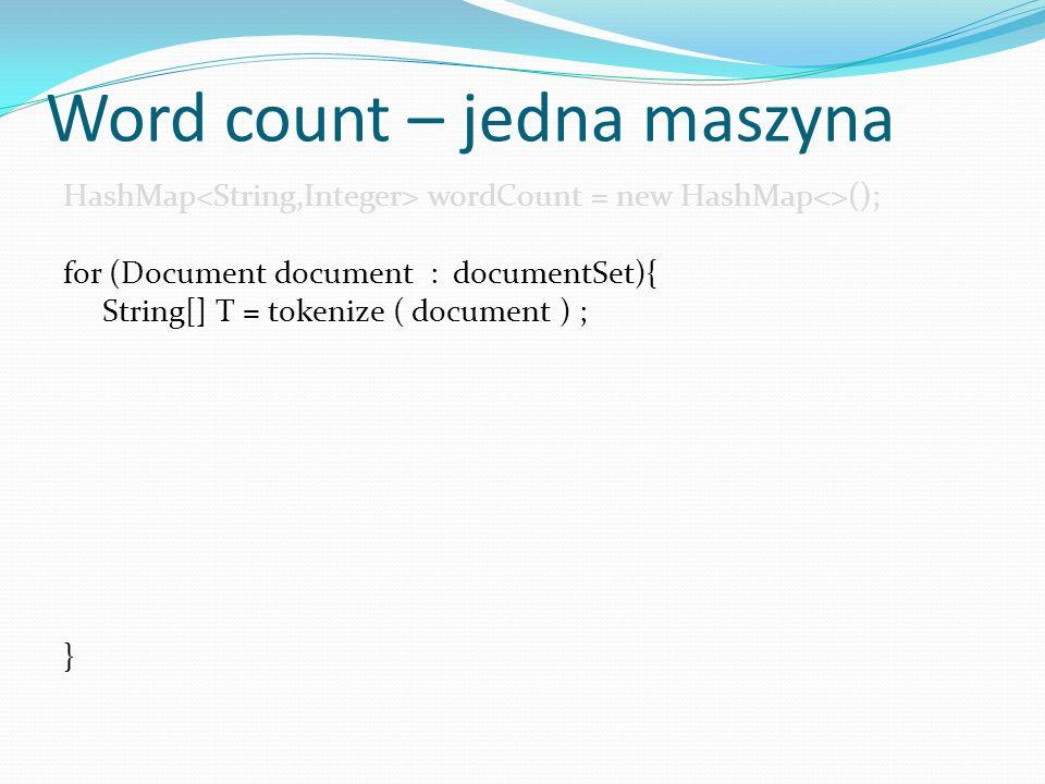Word count – jedna maszyna