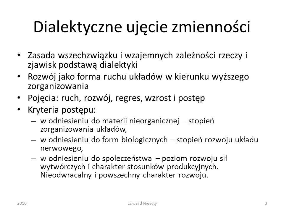 Dialektyczne ujęcie zmienności