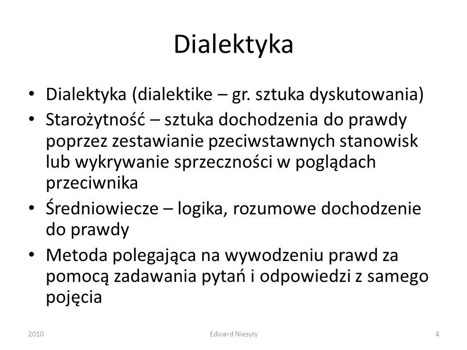 Dialektyka Dialektyka (dialektike – gr. sztuka dyskutowania)