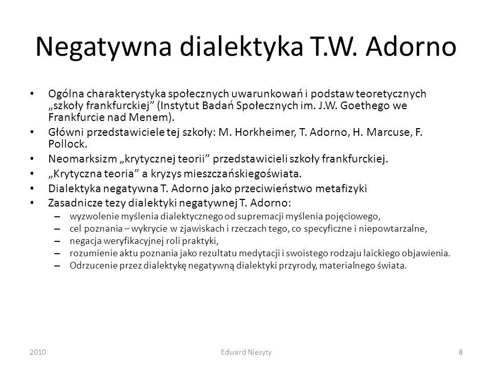 Negatywna dialektyka T.W. Adorno