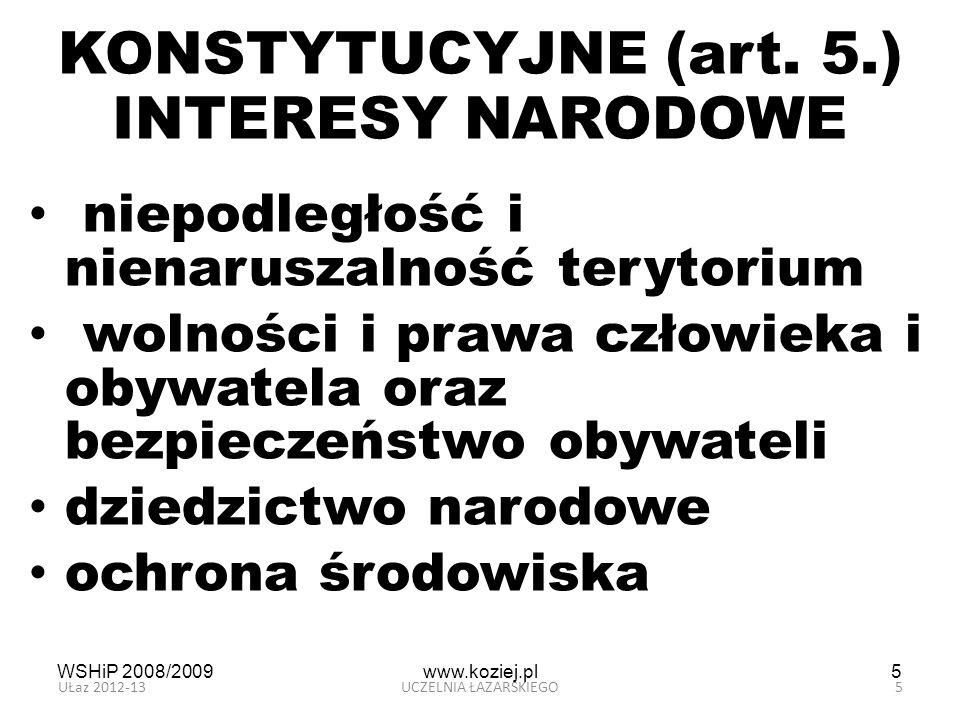 KONSTYTUCYJNE (art. 5.) INTERESY NARODOWE