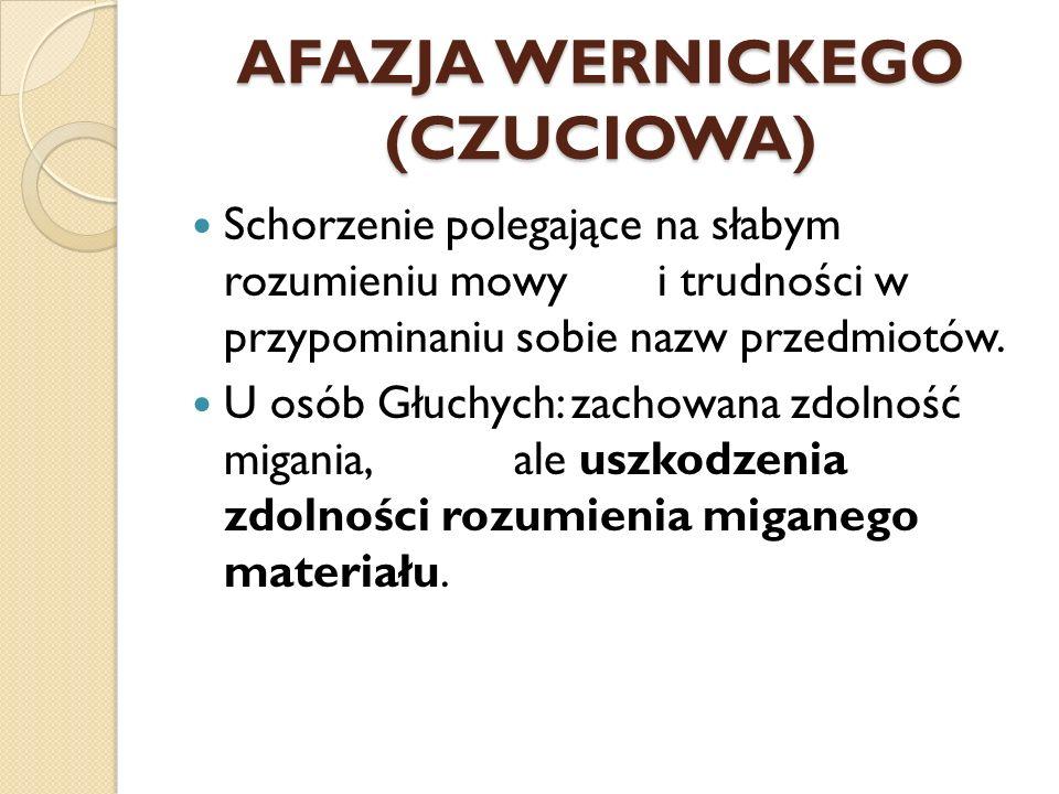 AFAZJA WERNICKEGO (CZUCIOWA)