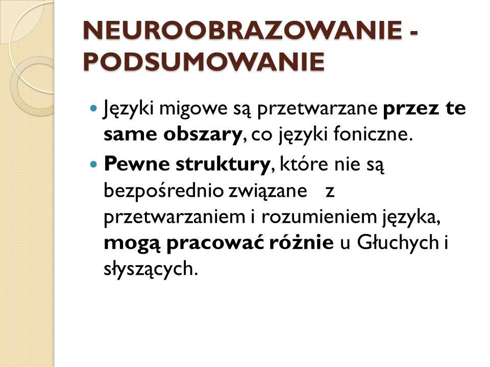NEUROOBRAZOWANIE - PODSUMOWANIE