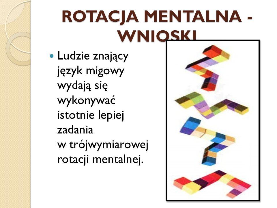 ROTACJA MENTALNA - WNIOSKI
